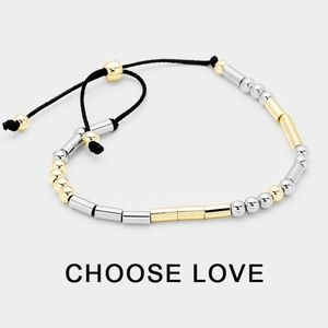 "Jewelry - Morse Code ""Choose Love"" Inspirational Bracelet"
